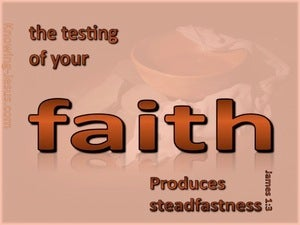 James 1:3 Testing Of Your Faith (brown)