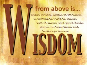 James 3:17 Wisdom From Above brown