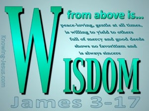 James 3:17 Wisdom From Above green