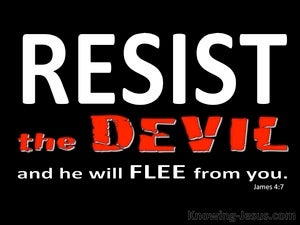 James 4:7 Submit To God And Resist The Devil black
