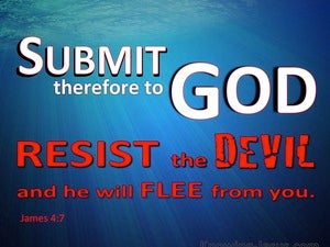 James 4:7 Submit To God And Resist The Devil blue