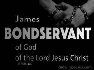 James 1:1 James Bondservant Of God And Jesus Christ (black)
