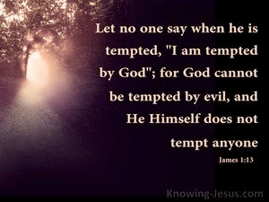 James 1:13 God Cannot Be Tempted By Evil (brown)