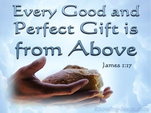James 1:17 Every Good And Perfect Gift Is From Above (blue)