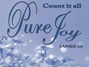 James 1:2 Consider It Pure Joy (blue)