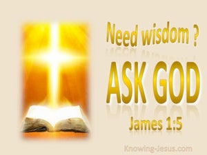 James 1:5 Need Wisdom Ask God (gold)
