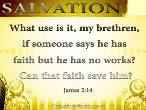 James 2:14 Someone Says He Has Faith (yellow)