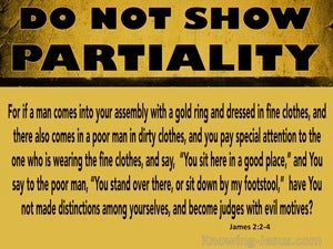 James 2:2 Do Not Make Distinctions Among Yourselves (yellow)