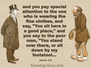 James 2:3 Do Not Shoe Favouritism (brown)