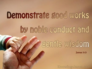 James 3:13 Who Is Wise And Understanding (beige)