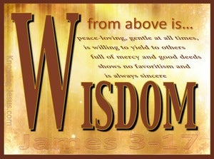 James 3:17 Wisdom From Above (brown)