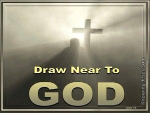 James 4:8 Draw Near To God (gold)