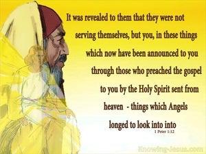 1 Peter 1:12 Things Angels Longed To Look Into yellow