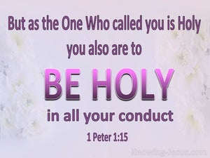 1 Peter 1:15 Be Holy In All Your Conduct pink