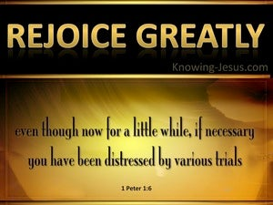 1 Peter 1:6 Rejoice Greatly yellow