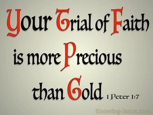 1 Peter 1:7 The Trial Of Your Faith Is More Precious Than Gold red