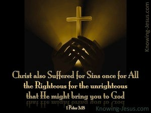 1 Peter 3:18 Christ Suffered To Bring Us To God brown