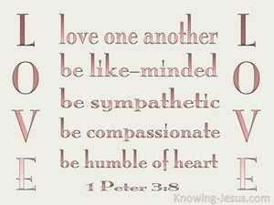 1 Peter 3:8 Be Tender, Humble And Love pink
