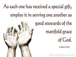 1 Peter 4:10 Each One Received A Spiritual Gift white