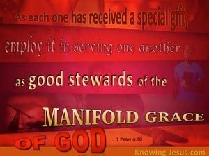 1 Peter 4:10 Serve One Another As Good Stewards (red)