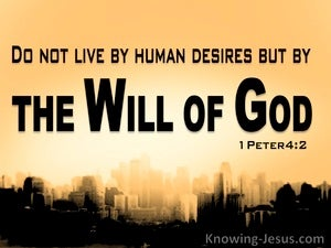 1 Peter 4:2 Live By The Will Of God black