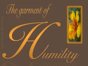 1 Peter 5:5 Be Clothed In Humility (brown)