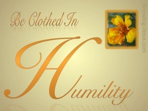 1 Peter 5:5 Be Clothed In Humility (orange)