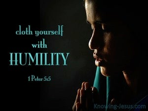 1 Peter 5:5 Cloth Yourself  With  Humility aqua