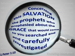 1 Peter 1:10 Concerning This Salvation (blue)