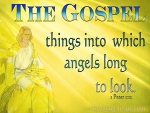 1 Peter 1:12 Things Angels Longed To Look Into (blue)