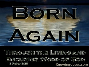 1 Peter 1:23 Born Again Of The Imperishable Word Of God (black)