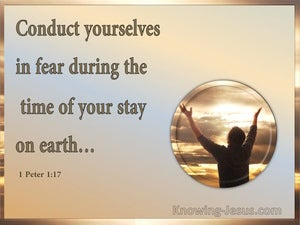 1 Peter 1:17 Conduct Yourselves In Fear (gold)