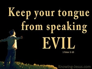 1 Peter 3:10 Keep From Speaking Evil (black)