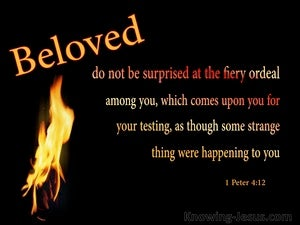 1 Peter 4:12 Do Not Be Surprised At The Fiery Ordeals (black)