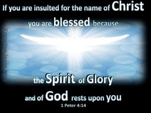 1 Peter 4:14 Spirit Of Glory (black)