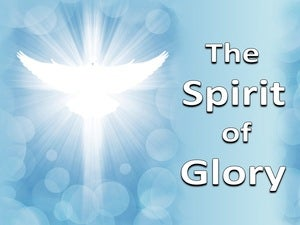 1 Peter 4:14 The Spirit Of Glory (blue)