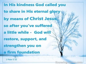 1 Peter 5:10 God Will Restore and Support You (aqua)