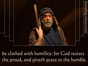 1 Peter 5:5 Cloth Yourself  With  humility (brown)