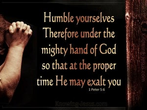 1 Peter 5:6 Humble Yourselves Under The Mighty Hand Of God (black)