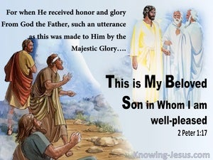 2 Peter 1:17 This Is My Beloved Son In Whom I Am Well Pleased (blue)