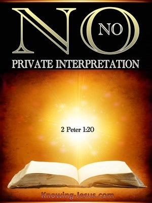 2 Peter 1:20 No Prophecy Is Of Any Private Interpretation gold
