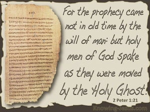 2 Peter 1:21 Holy Men Of God Spoke gray