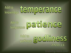 2 Peter 1:6 Add to Knowledge Temperance green