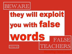 2 Peter 2:3 They WIll Exploit You With False Words (red)
