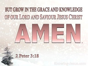 2 Peter 3:18 Grow In Grace And In Knowledge of Jesus Christ pink