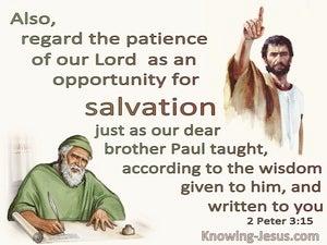 2 Peter 3:15 Brother Paul Taught According To Wisdom Given To Him (beige)