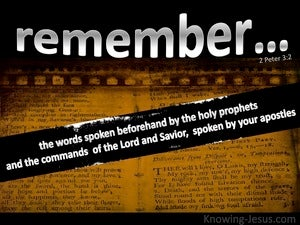 2 Peter 3:2 Remember The Words Of The Holy Prophets (black)