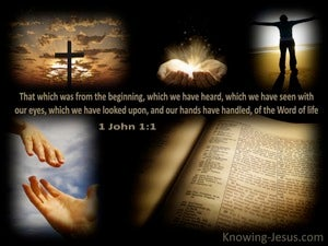 1 John 1:1 The Word of Life brown