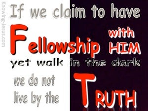 1 John 1:6 Fellowship With Him red