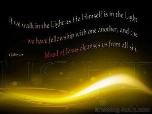 1 John 1:7  Walk In The Light black